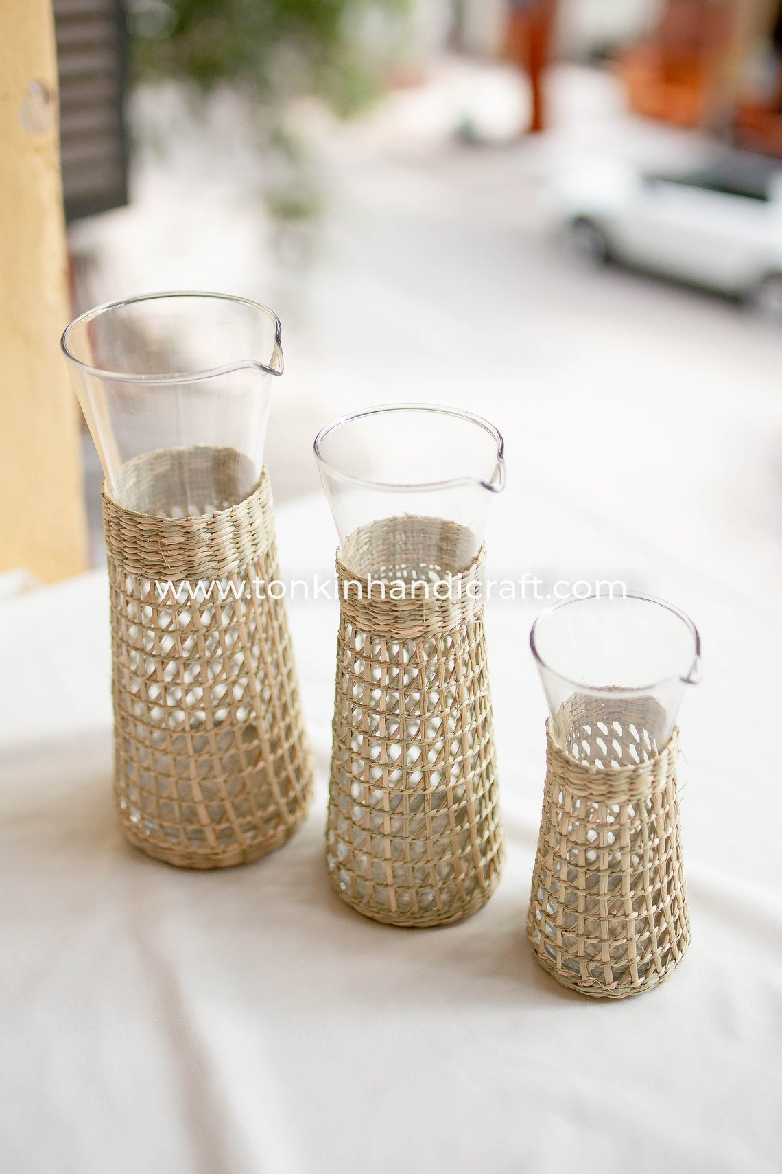 Bistro Carafe, Seagrass-Wrapped Pitcher