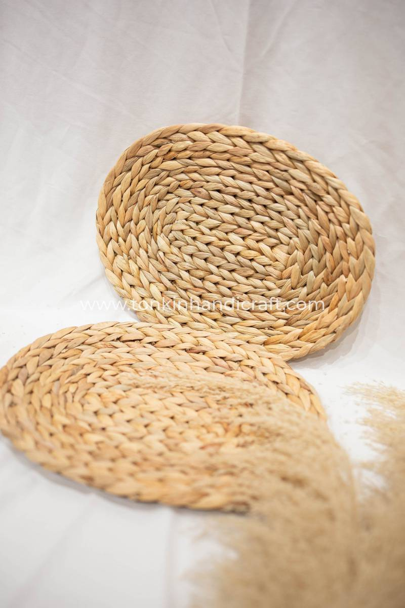 tonkin handicraft Set of 2 Placemats Oval Wicker Placemat